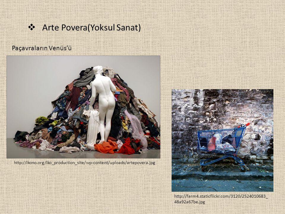 Arte Povera(Yoksul Sanat)