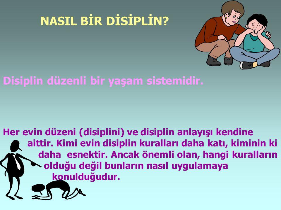 NASIL BİR DİSİPLİN Disiplin düzenli bir yaşam sistemidir.