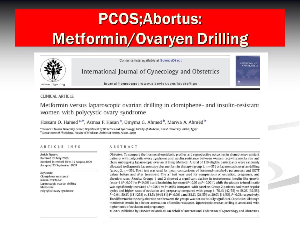 PCOS;Abortus: Metformin/Ovaryen Drilling
