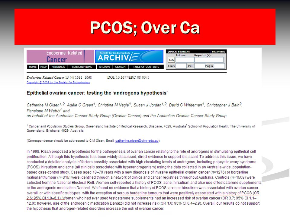 PCOS; Over Ca