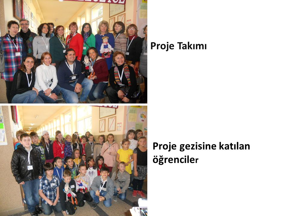 Proje Takımı Proje gezisine katılan öğrenciler