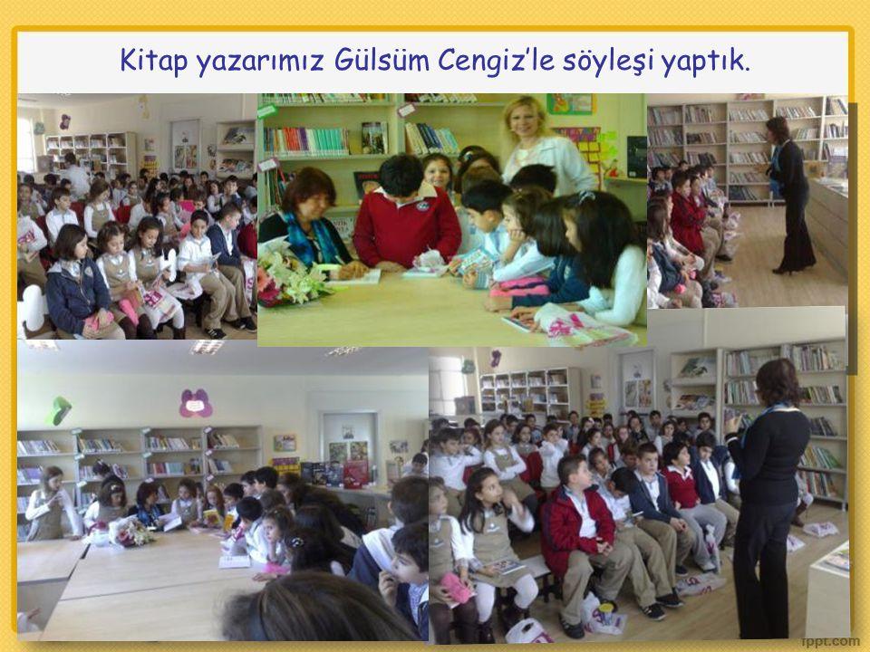 Kitap yazarımız Gülsüm Cengiz'le söyleşi yaptık.