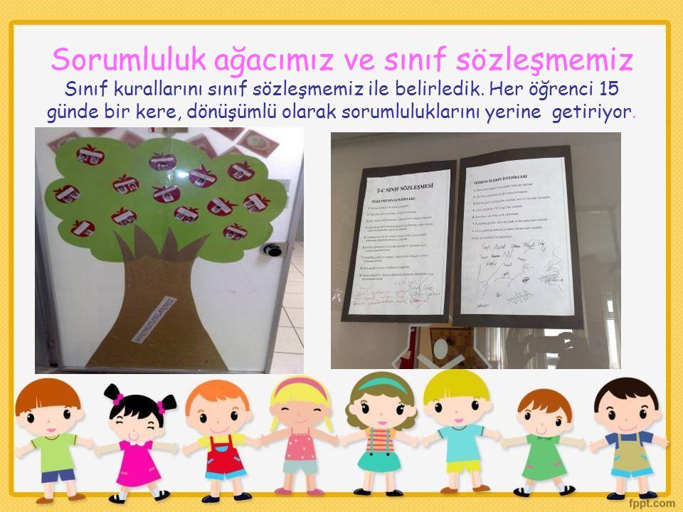 Sorumluluk ağacımız ve sınıf sözleşmemiz Sınıf kurallarını sınıf sözleşmemiz ile belirledik.