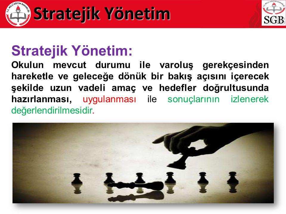 Stratejik Yönetim Stratejik Yönetim: