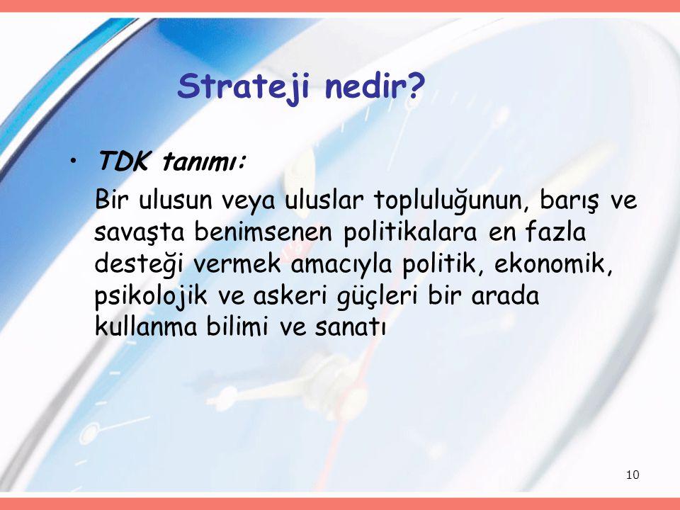 Strateji nedir TDK tanımı:
