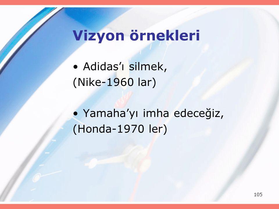Vizyon örnekleri Adidas'ı silmek, (Nike-1960 lar)