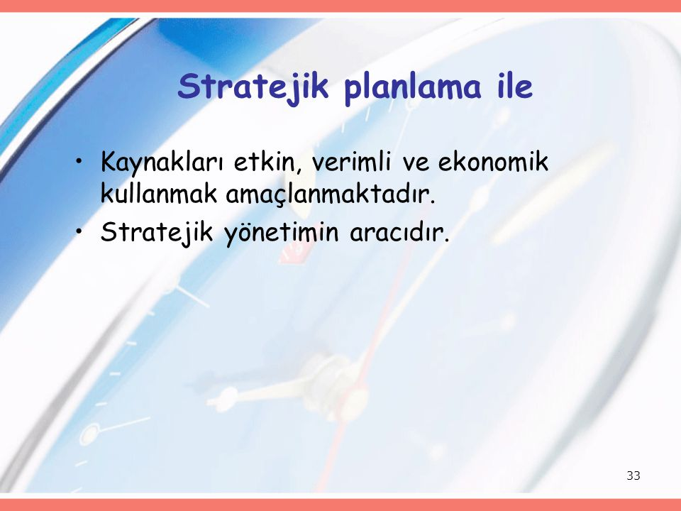 Stratejik planlama ile