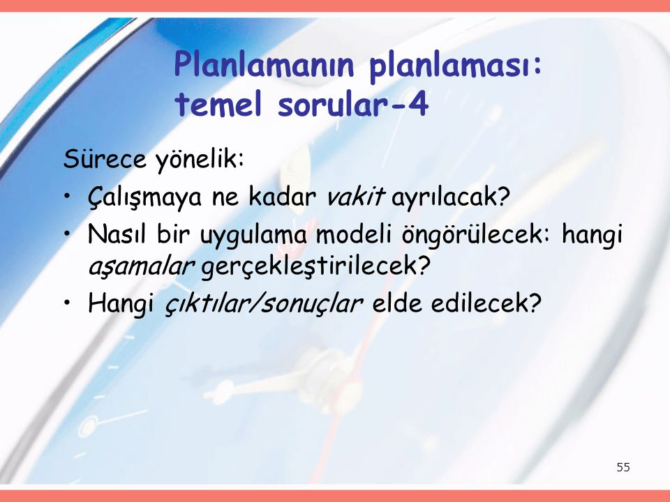 Planlamanın planlaması: temel sorular-4
