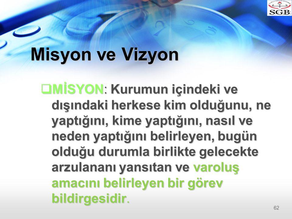 Misyon ve Vizyon