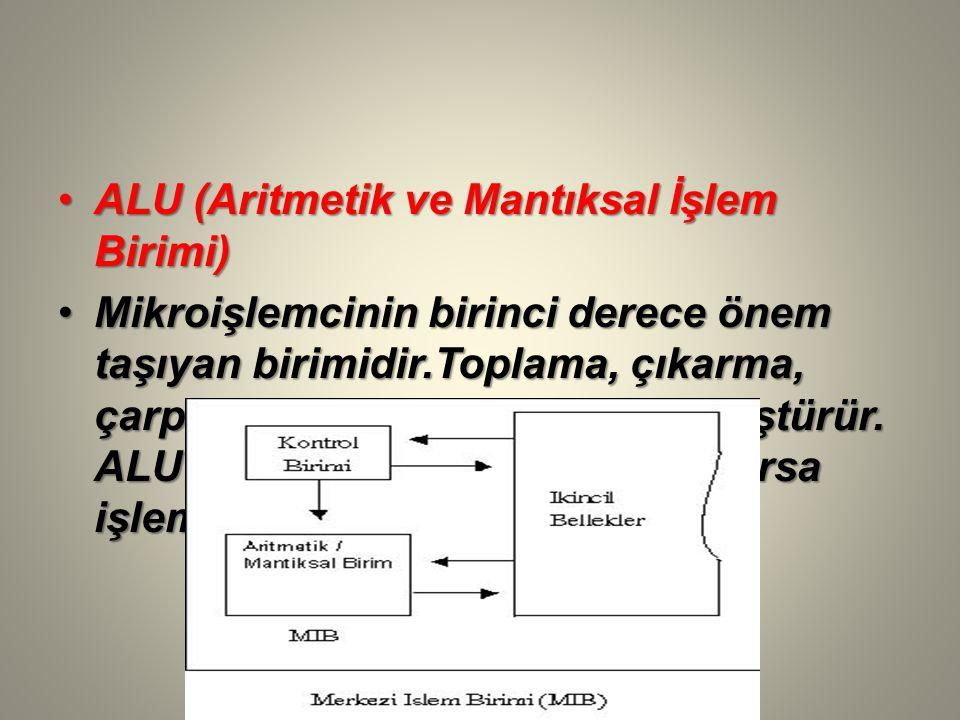 ALU (Aritmetik ve Mantıksal İşlem Birimi)