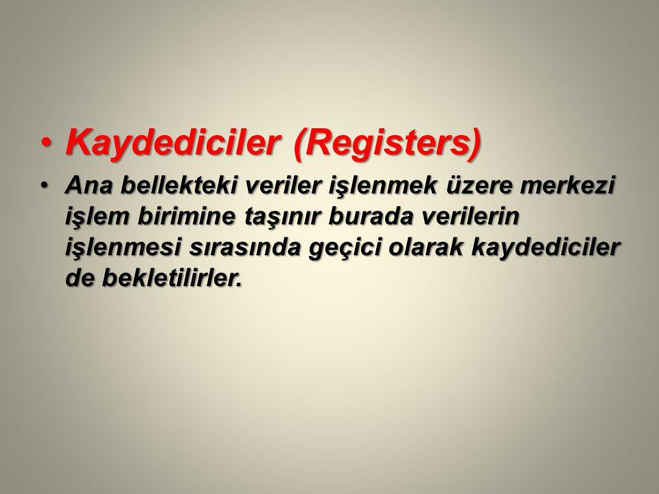 Kaydediciler (Registers)