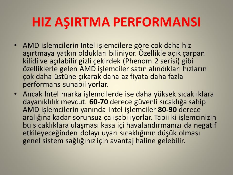 HIZ AŞIRTMA PERFORMANSI