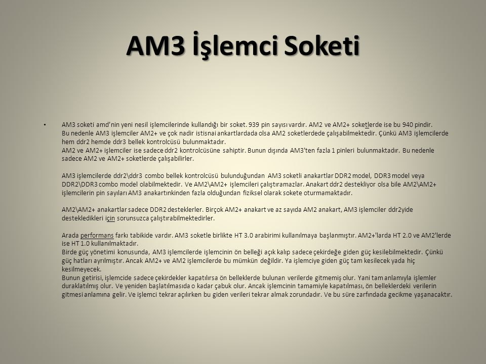 AM3 İşlemci Soketi
