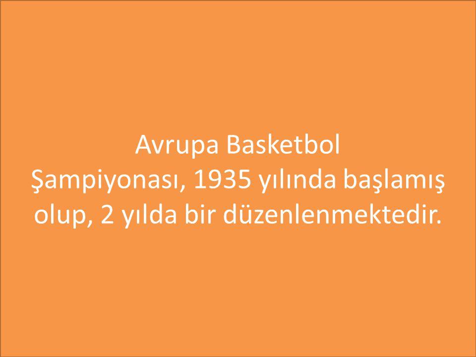 Avrupa Basketbol Şampiyonası, 1935 yılında başlamış olup, 2 yılda bir düzenlenmektedir.
