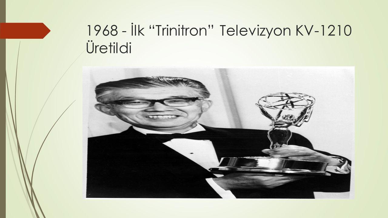 1968 - İlk Trinitron Televizyon KV-1210 Üretildi