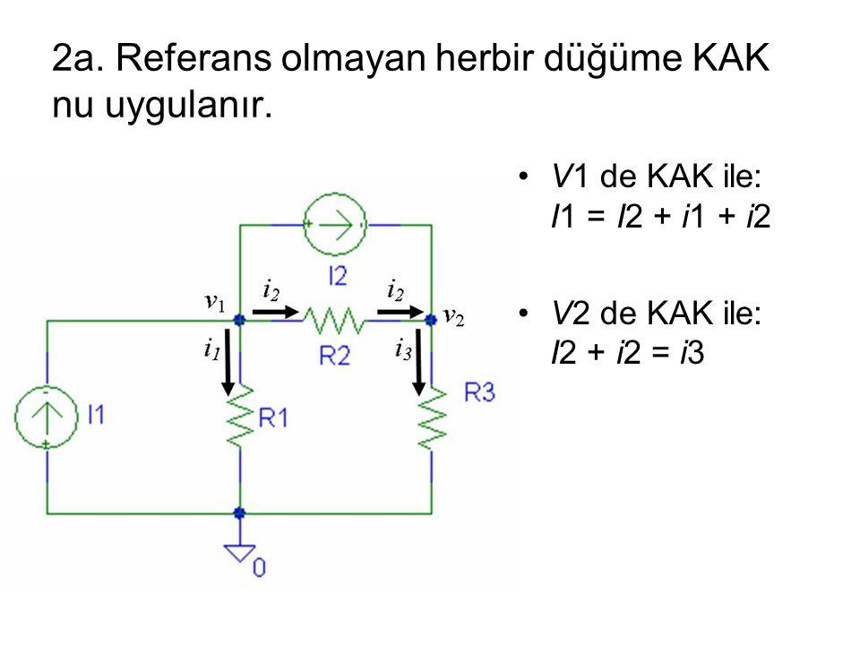 2a. Referans olmayan herbir düğüme KAK nu uygulanır.