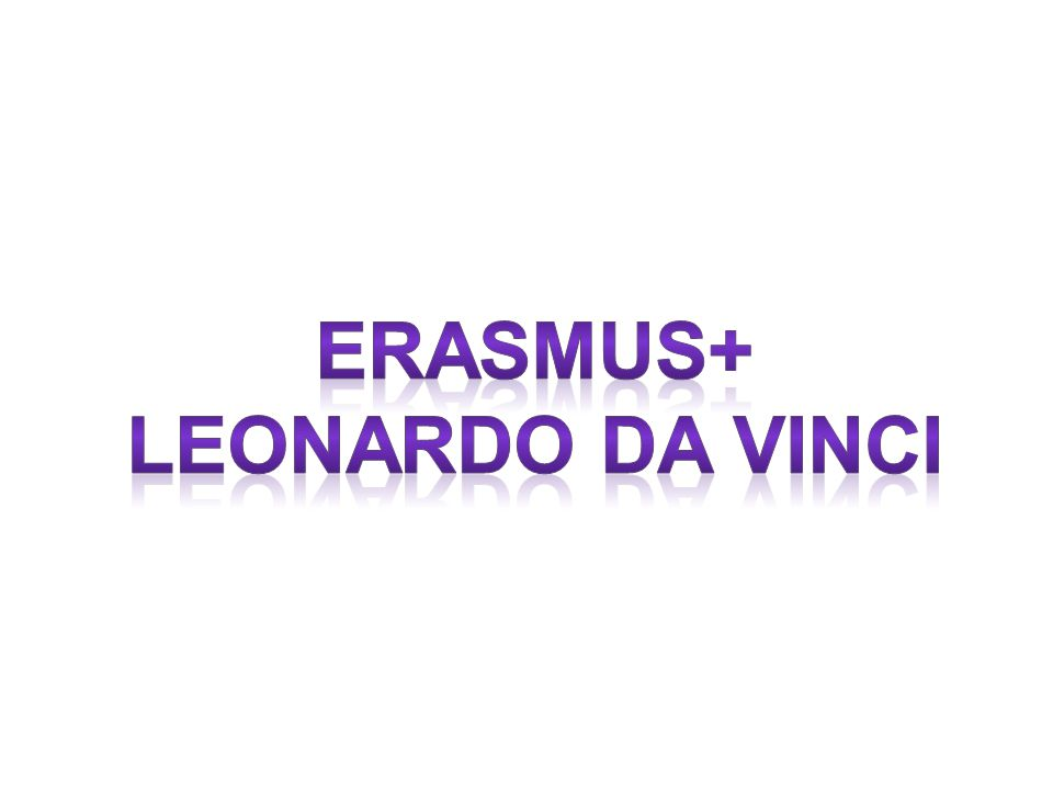 Erasmus+ leonardo da vinci