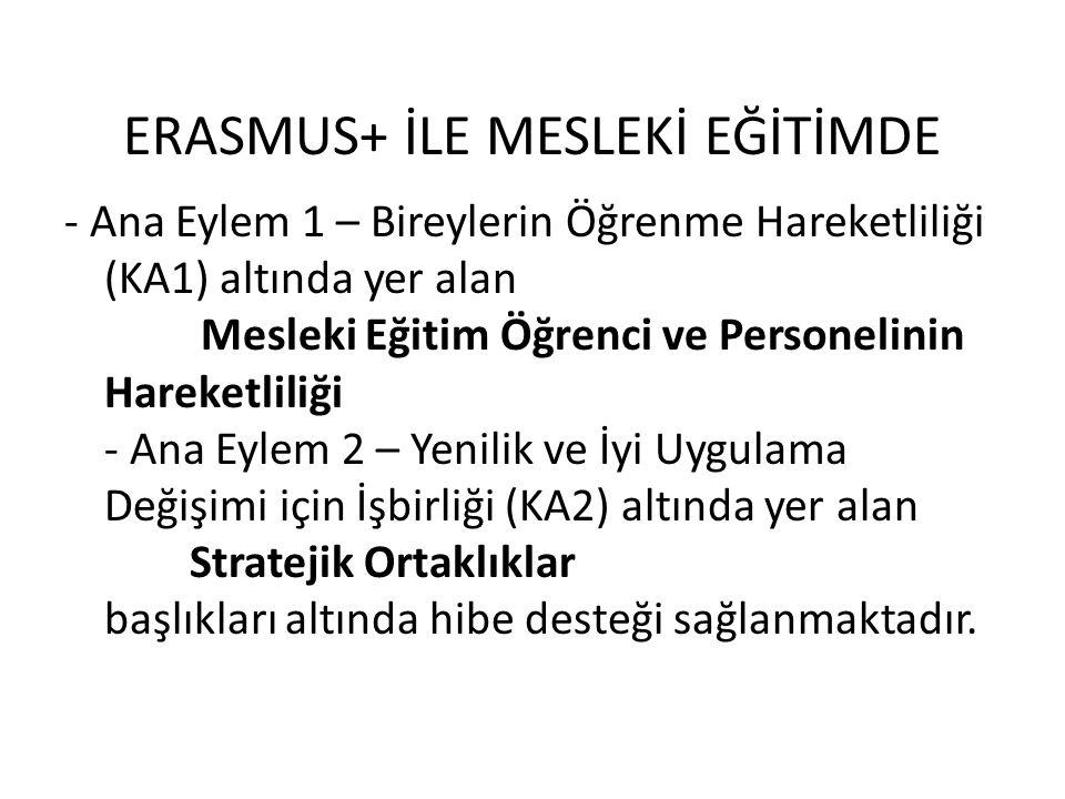 ERASMUS+ İLE MESLEKİ EĞİTİMDE