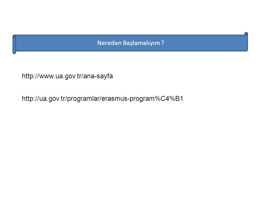 Nereden Başlamalıyım . http://www.ua.gov.tr/ana-sayfa.