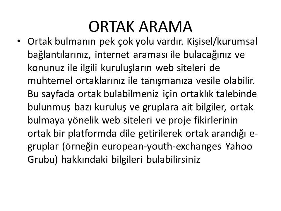 ORTAK ARAMA