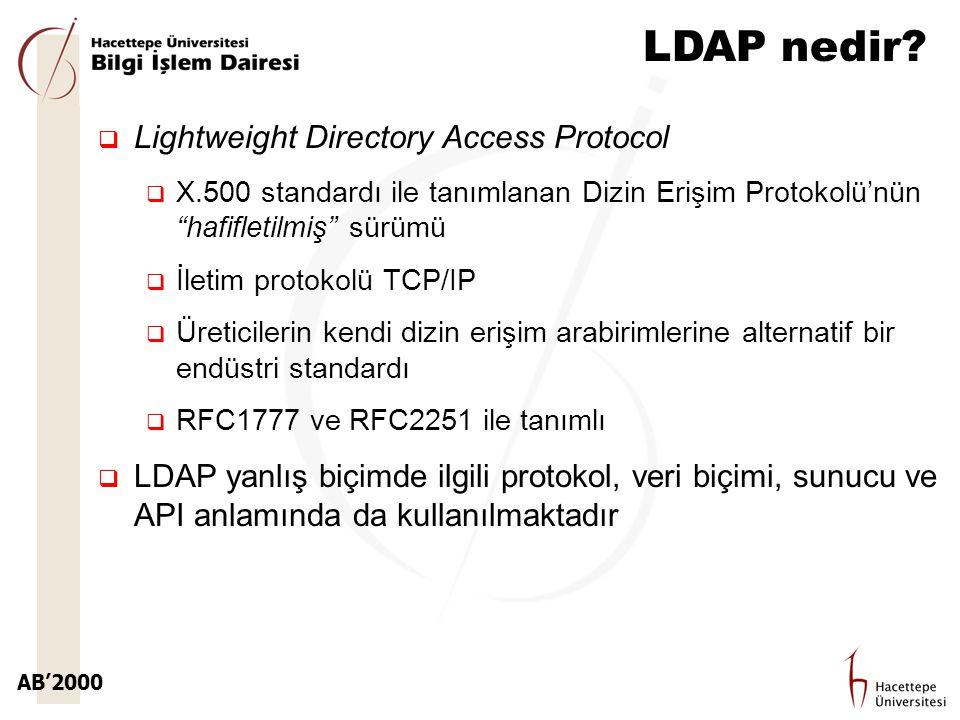 LDAP nedir Lightweight Directory Access Protocol