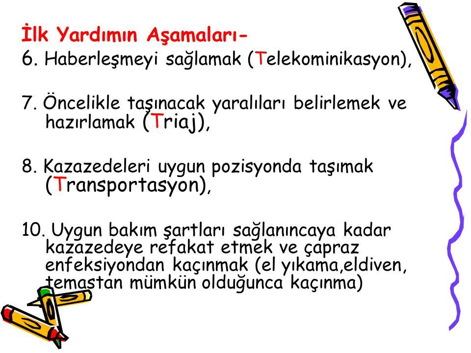 İlk Yardımın Aşamaları- 6. Haberleşmeyi sağlamak (Telekominikasyon),