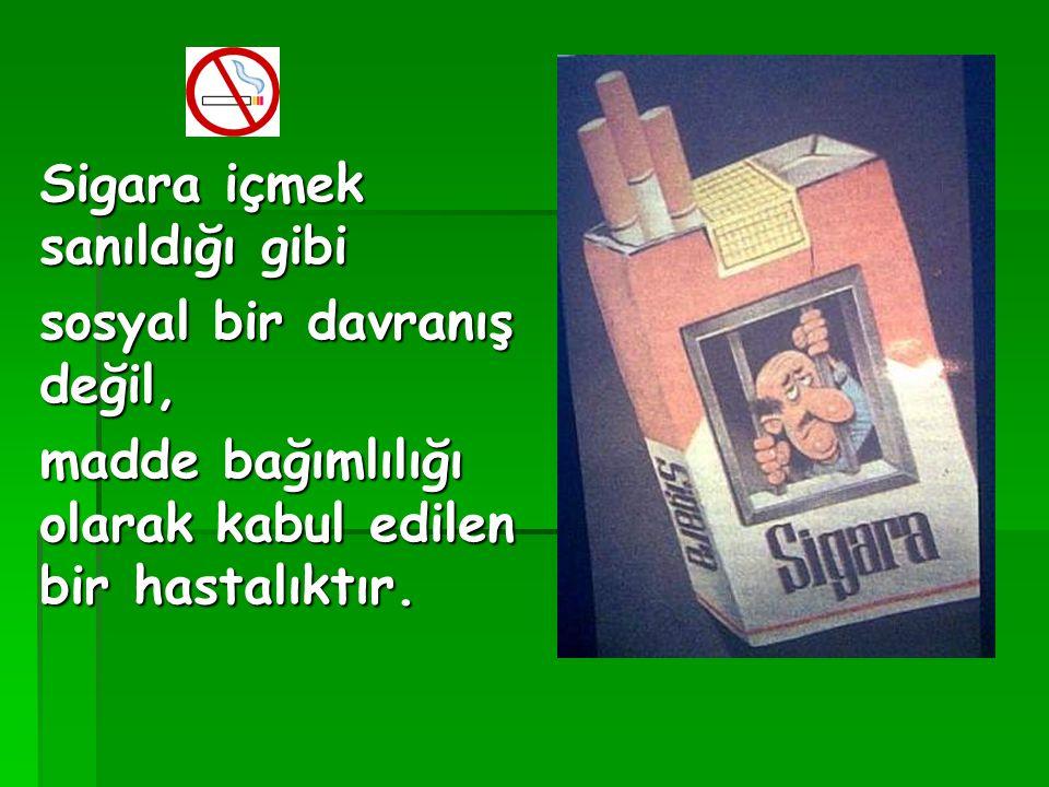 Sigara içmek sanıldığı gibi