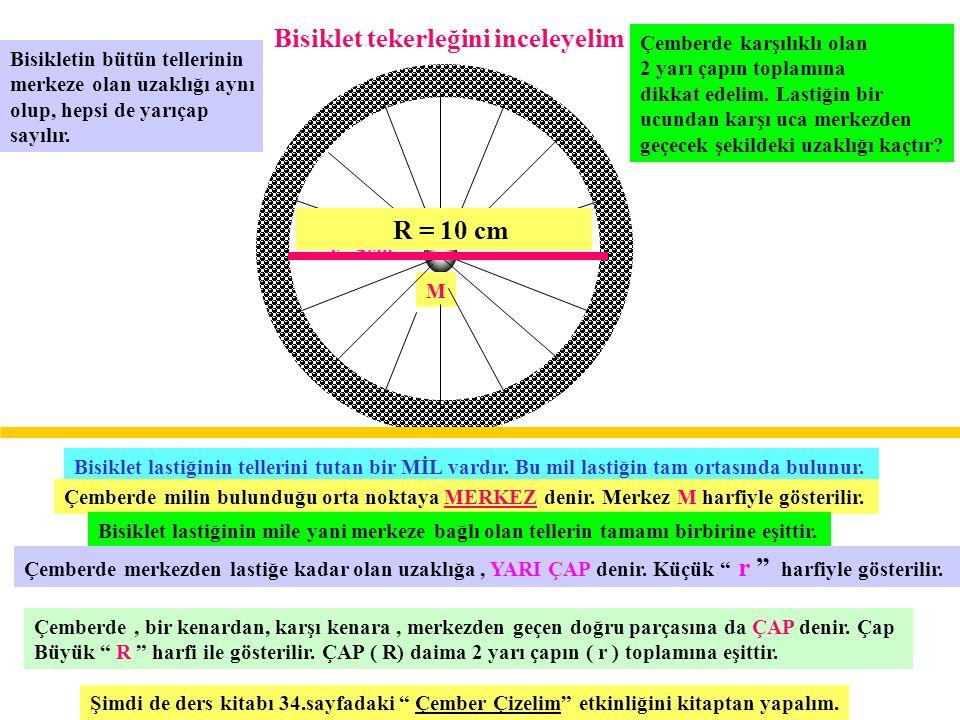 Bisiklet tekerleğini inceleyelim