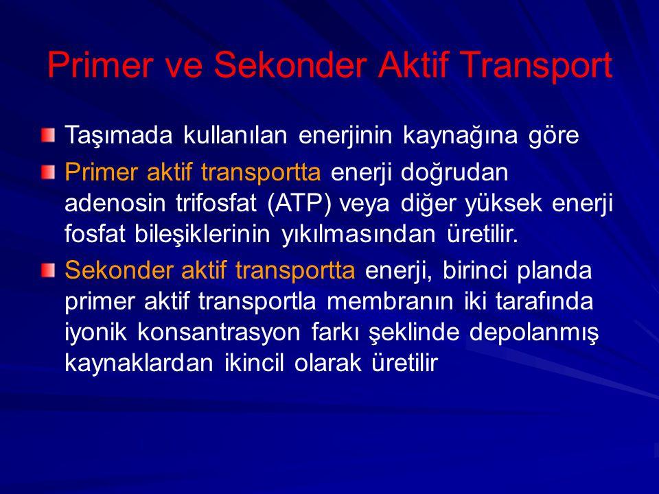Primer ve Sekonder Aktif Transport