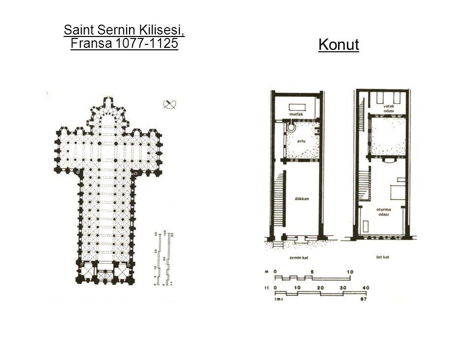 Saint Sernin Kilisesi, Fransa 1077-1125
