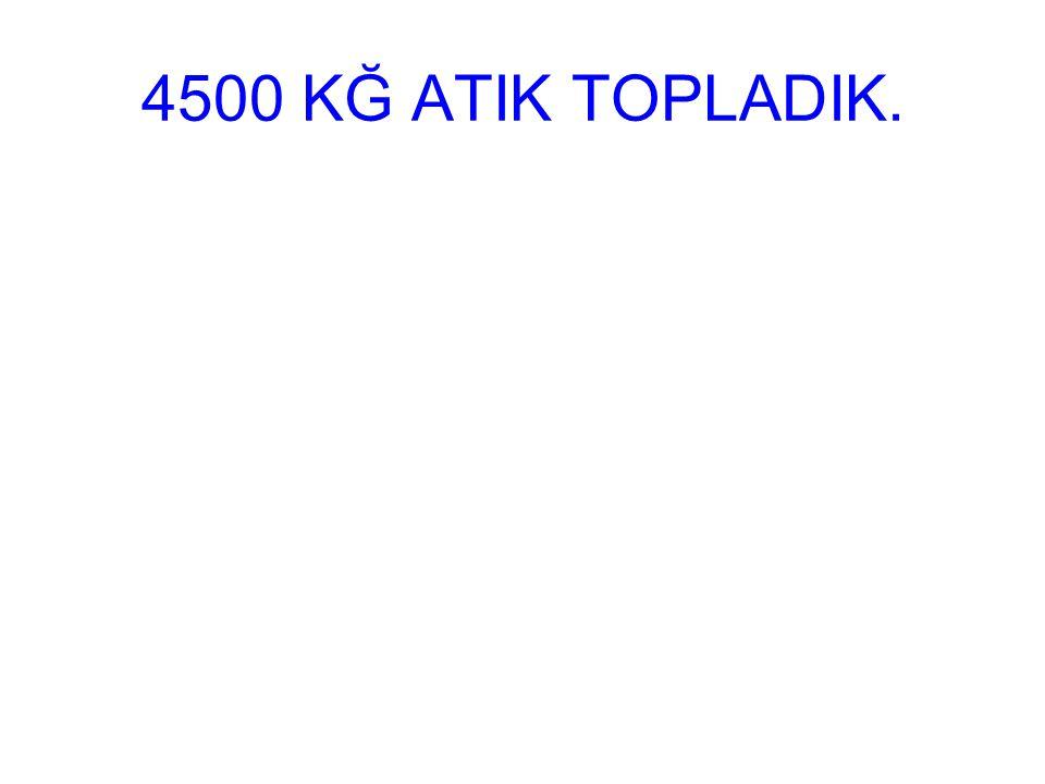 4500 KĞ ATIK TOPLADIK.