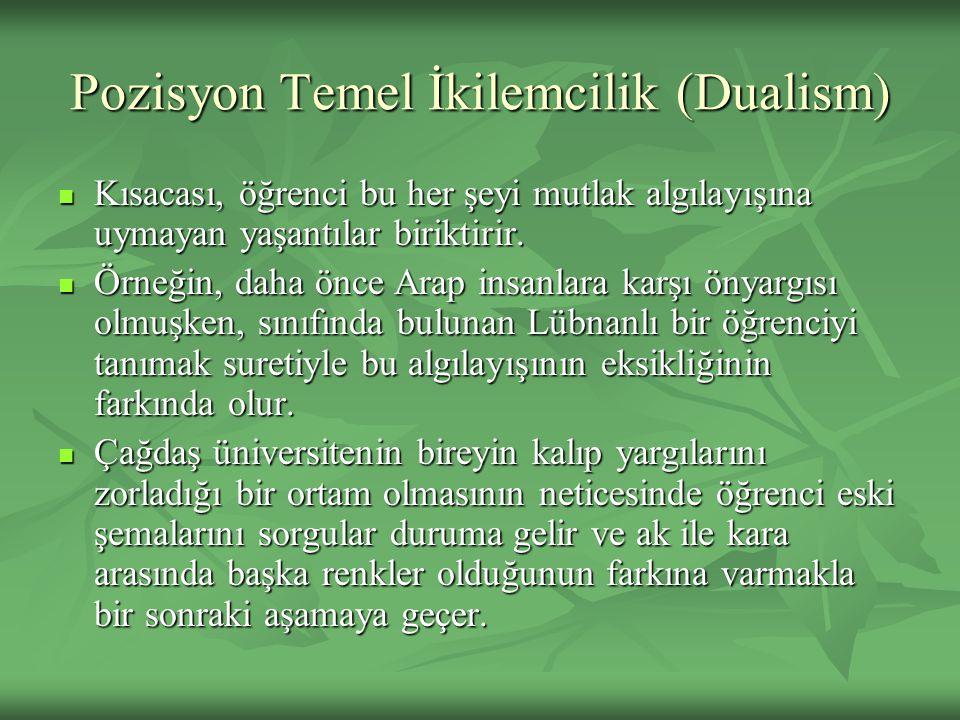 Pozisyon Temel İkilemcilik (Dualism)