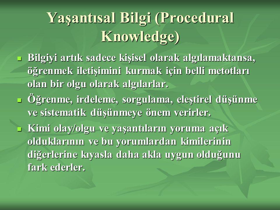 Yaşantısal Bilgi (Procedural Knowledge)