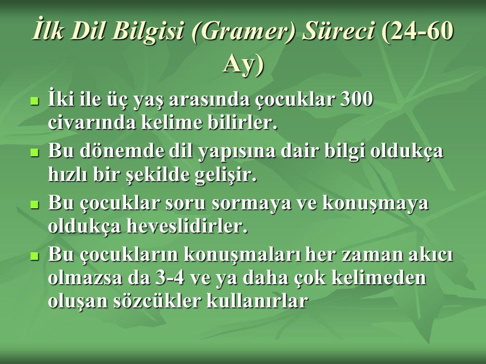 İlk Dil Bilgisi (Gramer) Süreci (24-60 Ay)