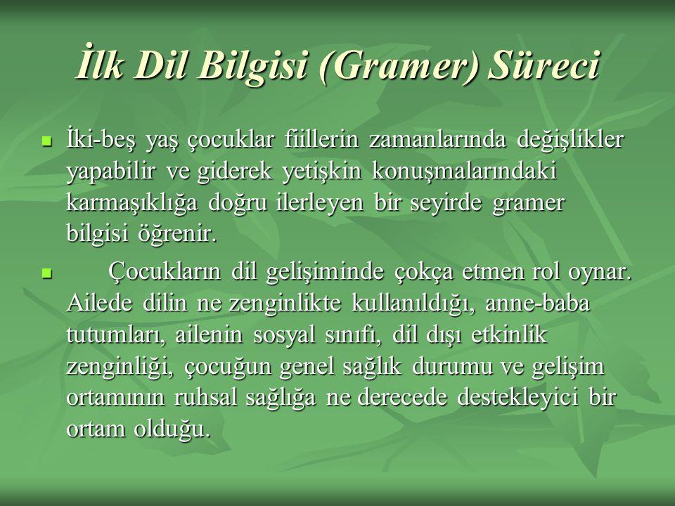 İlk Dil Bilgisi (Gramer) Süreci