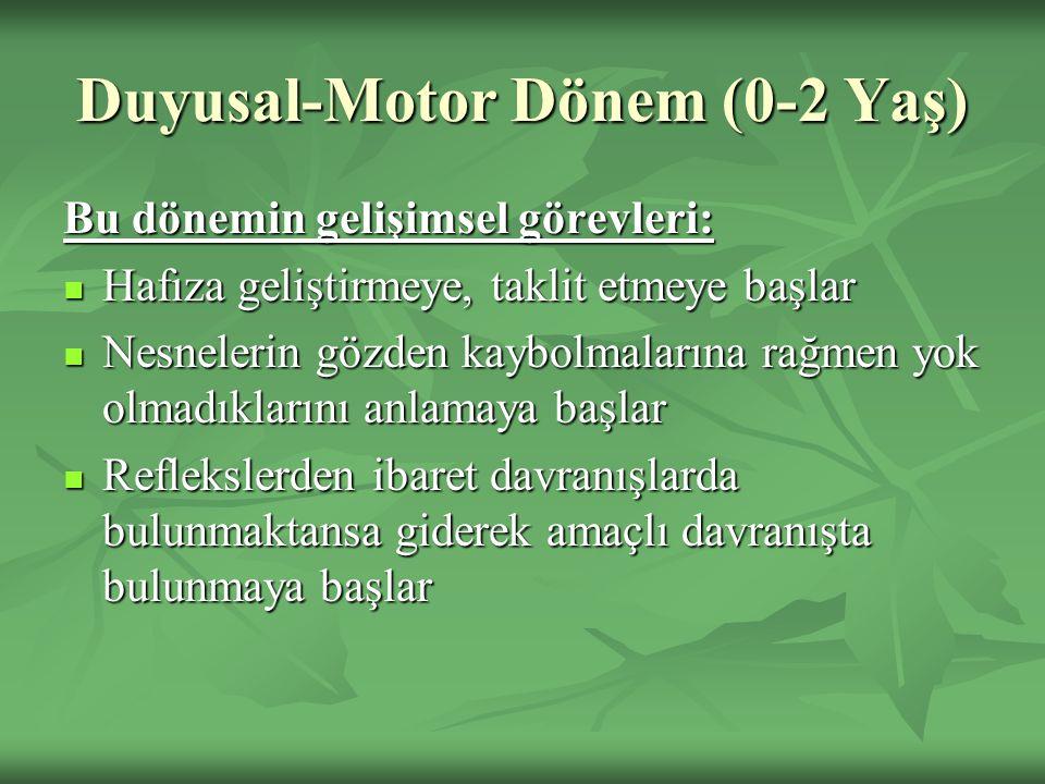 Duyusal-Motor Dönem (0-2 Yaş)