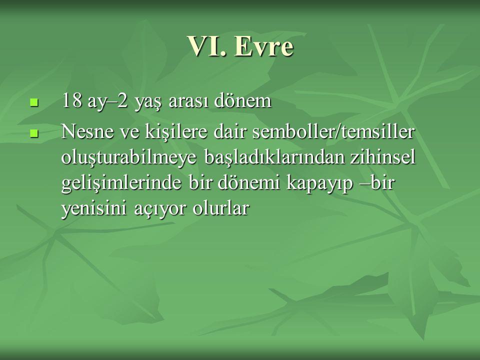 VI. Evre 18 ay–2 yaş arası dönem