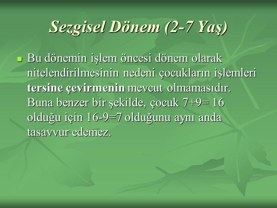 Sezgisel Dönem (2-7 Yaş)