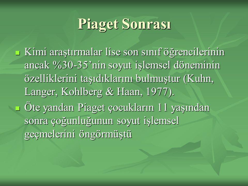 Piaget Sonrası