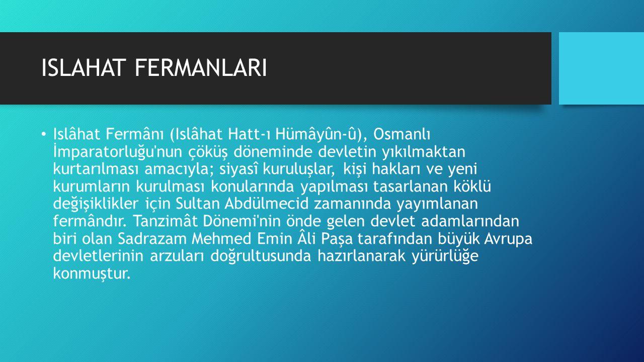 ISLAHAT FERMANLARI