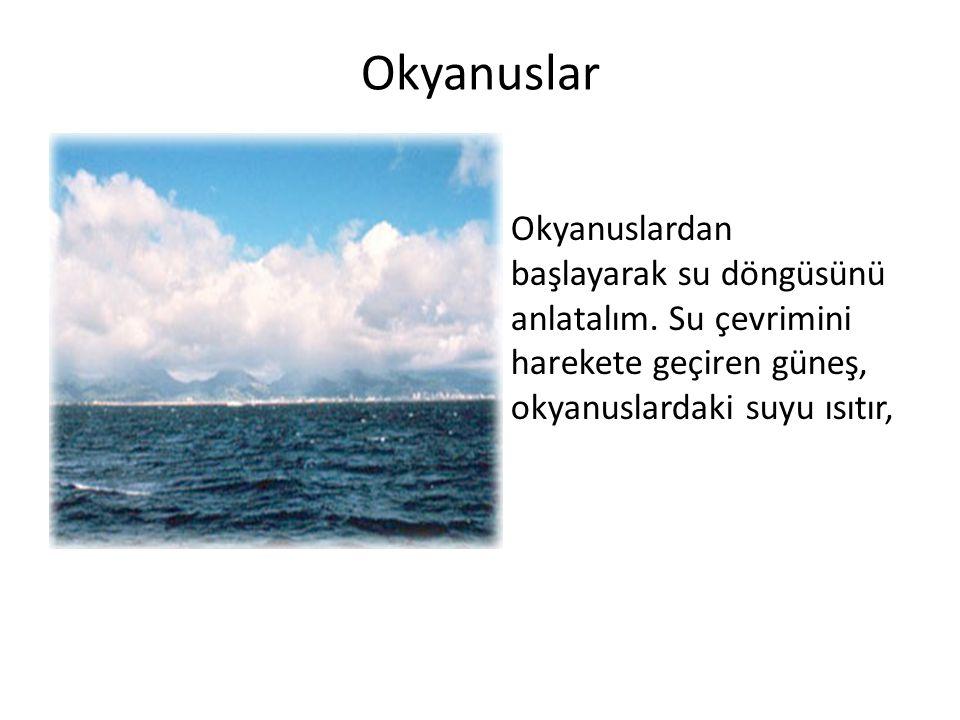 Okyanuslar Okyanuslardan başlayarak su döngüsünü anlatalım.