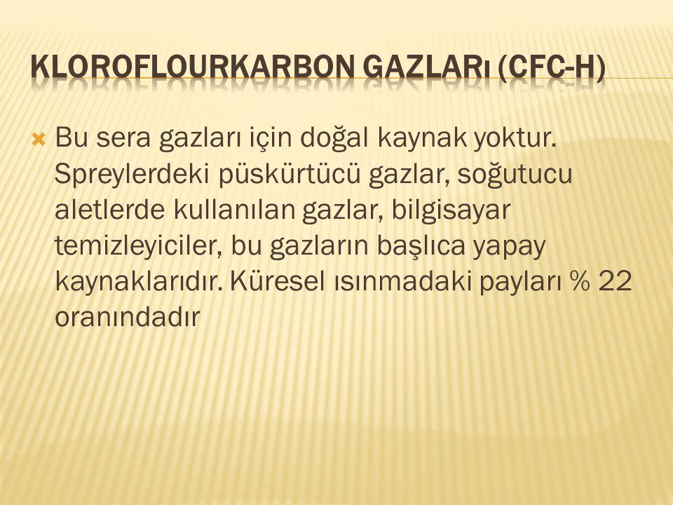Kloroflourkarbon Gazları (CFC-H)