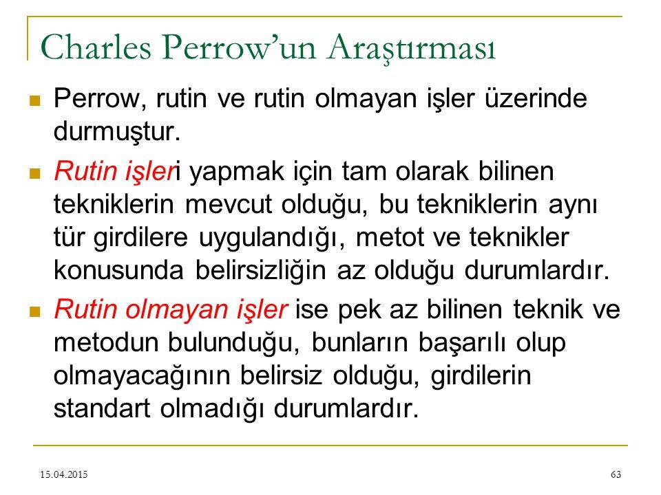 Charles Perrow'un Araştırması