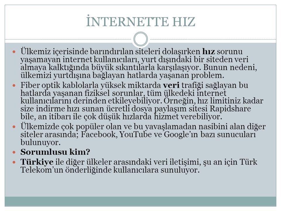 İNTERNETTE HIZ