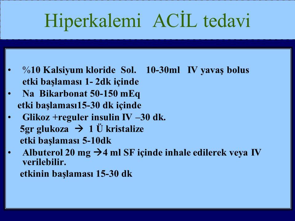 Hiperkalemi ACİL tedavi
