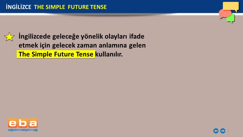The Simple Future Tense kullanılır.