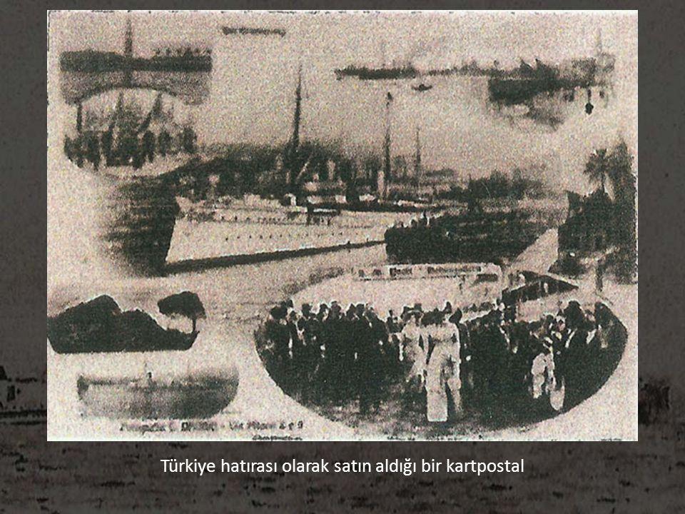 Türkiye hatırası olarak satın aldığı bir kartpostal