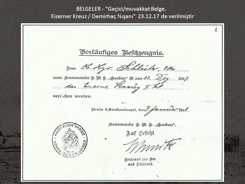 BELGELER - Geçici/muvakkat Belge.