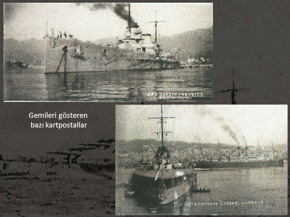 Gemileri gösteren bazı kartpostallar