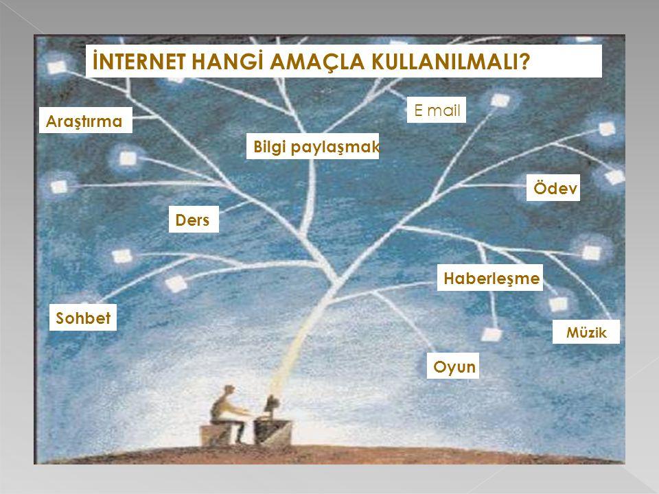 İNTERNET HANGİ AMAÇLA KULLANILMALI